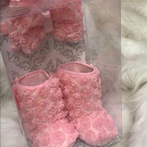 Baby girls Gift Set Headband Booties